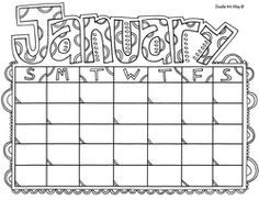 Free printable calendar coloring pages Will be using these