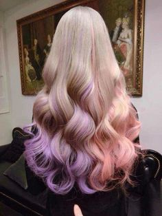 brown pink ombre wig pastel pink wig light brown mauve pink ombre wig long curly