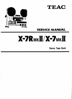 Akai 1722-L and 1722-W reel tape recorder Service Manual