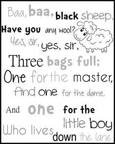 Mom Blog  Free (Printable) Nursery Rhyme Book http://wp.me