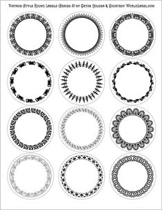 1000+ images about Round Labels and Round Label Template