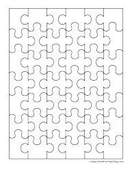 Blank Puzzle Template lige kombineret med feriebilleder og