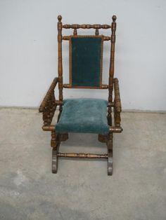 Ada 10 Antique Vintage Pedestal Platform Rocking Chair
