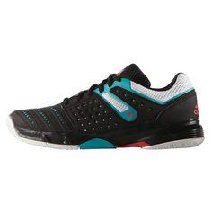 chaussures handball adidas court stabil femme noir turquoise blanc