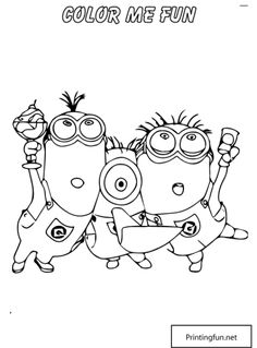 Download and Print Minion Couple Despicable Me Coloring