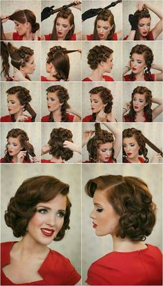 Frizzy Hair How To Do 50's Hairstyles 50's Dream Pinterest
