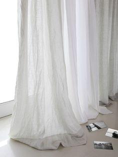 White Linen Curtains! Baby Hallmarks Nursery Pinterest Front