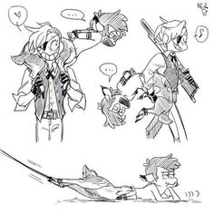 Siren Dipper and Pirate Bill http://lucilequiquempois
