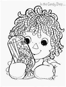 Redwork Raggedy Ann and Andy Machine Embroidery Patterns