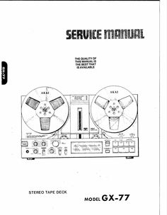 Akai GX-210-D reel to reel tape recorder Service Manual