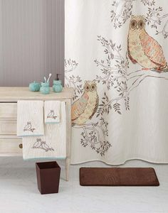 Better Homes And Gardens Owl Shower Curtain Gardens Were And