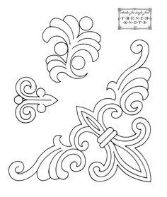 Wrought Iron Fleur De Lis Stencil 1.0, Wall Stencil