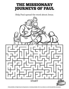 Paul and Silas: coloring page, audio Bible story and