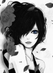 black and white anime girl monochrome