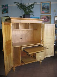 Sewing Armoire on Pinterest  Armoires Sewing Cabinet and