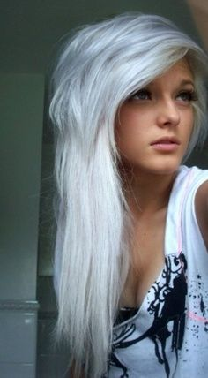 1000 images about hair on pinterest white hair grey hair and emo hairstyles