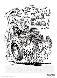 Johnny Ace Original Art Rat FINK Monster ED Big Daddy ROTH