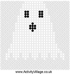 Ghostface (from Scream) Hello Kitty (Square Grid Pattern