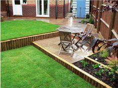 Sloping Garden Design Garden Completed Borders Sloping Garden