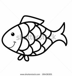 Coloring, Fish and Cartoon on Pinterest