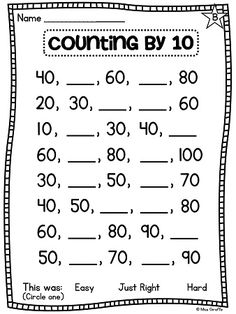Buggy Friends Count By Ten free printable math worksheet