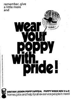Vintage Royal British Legion advert for the Poppy Day
