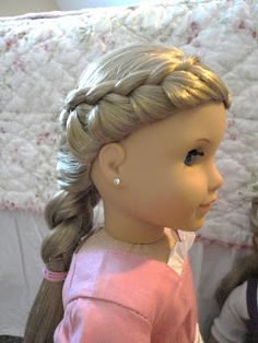 Fabulous Half Up Twists Hairstyle For American Girl Dolls! Click