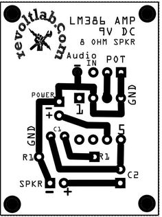Basic 0.5W power amp. Doesn't get any simpler than this