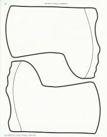 Milk jug pattern. Use the printable outline for crafts