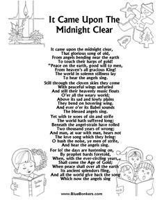 Printable Christmas Carol Lyrics sheet : My Favorite