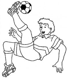 Soccer players, Online coloring and Soccer on Pinterest