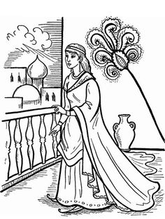 Esther Accusing Haman coloring page from Queen Esther