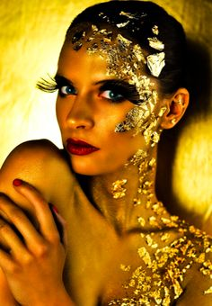 1000 Images About Gold Flake Makeup Shoot Ideas On