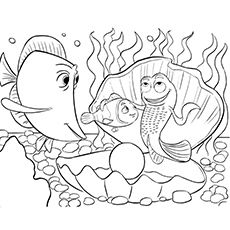 Marlin, Dory, Nemo coloring page from Finding Nemo