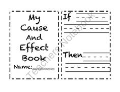 Cause and Effect: This cause and effect activity packet