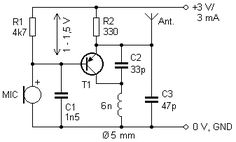 Simple Circuit Diagram using PIR Sensor (PIR = SENZOR