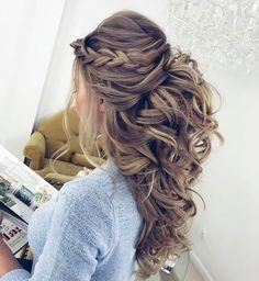 32 Pretty Half Up Half Down Hairstyles – Partial Updo Wedding