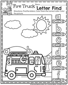 In these Community Helpers matching Worksheets kids draw a