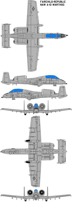 Here is our Republic A-10 Thunderbolt II Gray Camouflage
