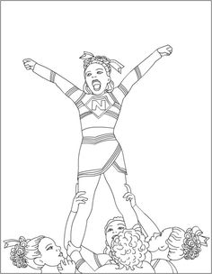 1000+ images about cheerleading coloring pages on