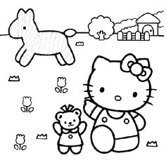 1000+ images about Hello kittie coloring on Pinterest