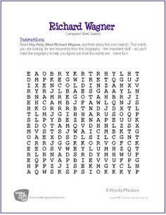 Music genre, Word search and Word search puzzles on Pinterest