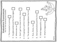 These are worksheets for the Magic Tree House Dinosaurs