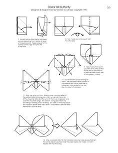 Free Folding Diagram: Armadillo Money Origami Instructions