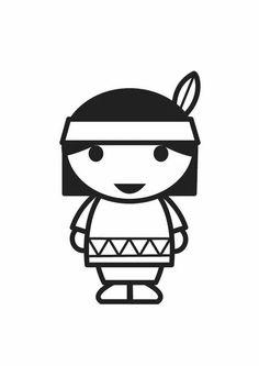 Thanksgiving Girl Native American SVG scrapbook cut file