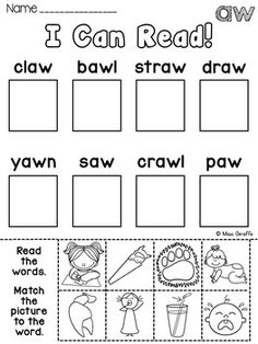 Phonics crossword puzzles and other great phonics