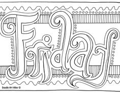 Days of the Week Coloring Pages! Color, laminate, magnets