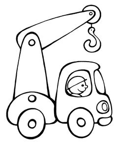 Car pattern. Use the printable outline for crafts