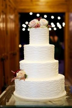 A four-tier, ruffled