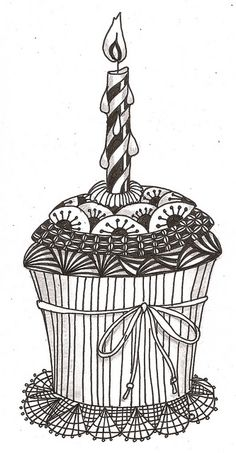 birthday cupcake Perfect for the front of a birthday card